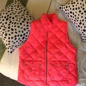 J. Crew hot pink puffer vest 💖💓💞